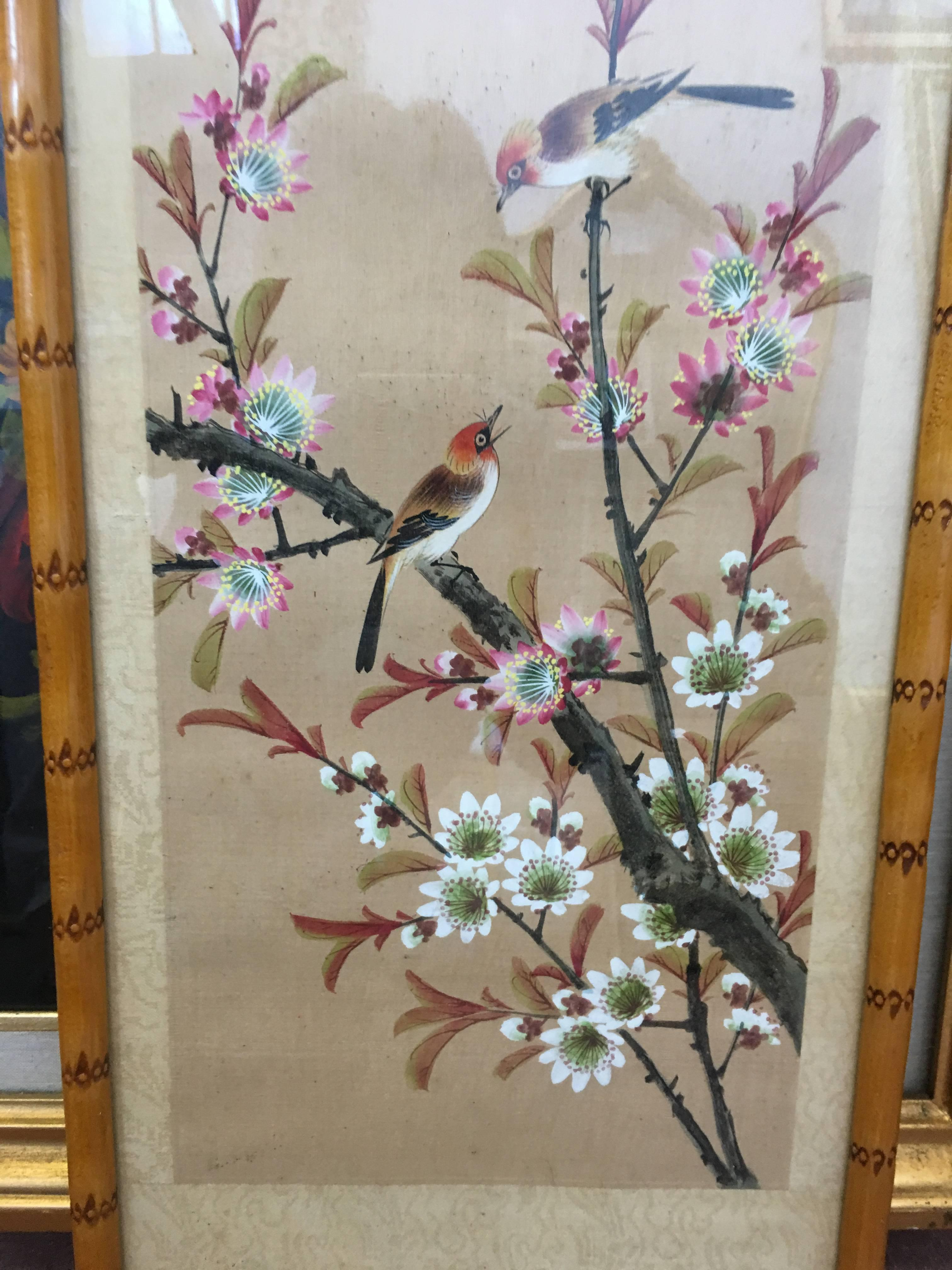 Bamboo Paintings Antique Scroll Asian