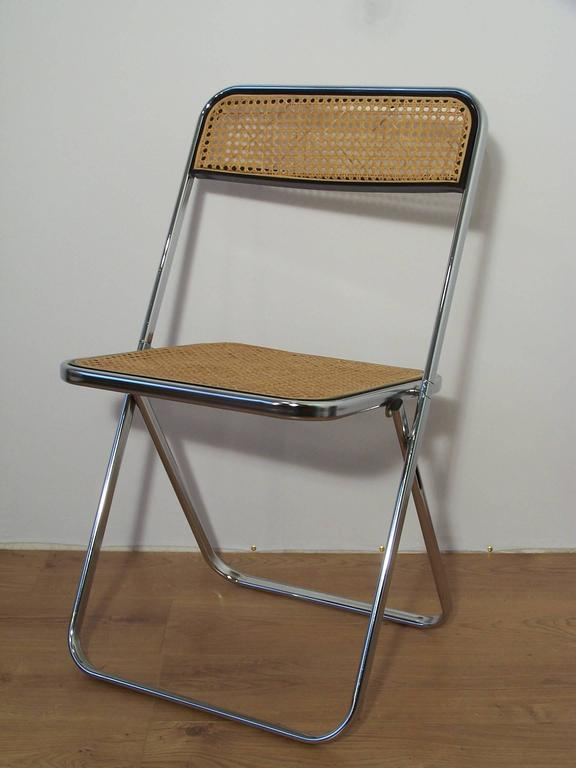 Castelli Style Chrome Folding Chair And Cane At 1stdibs