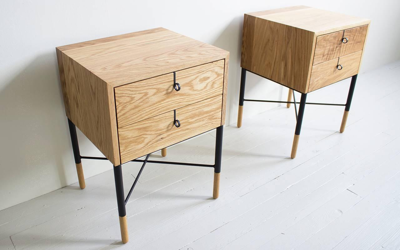 Phillips Two-Drawer Nightstand And Side Table For Sale At
