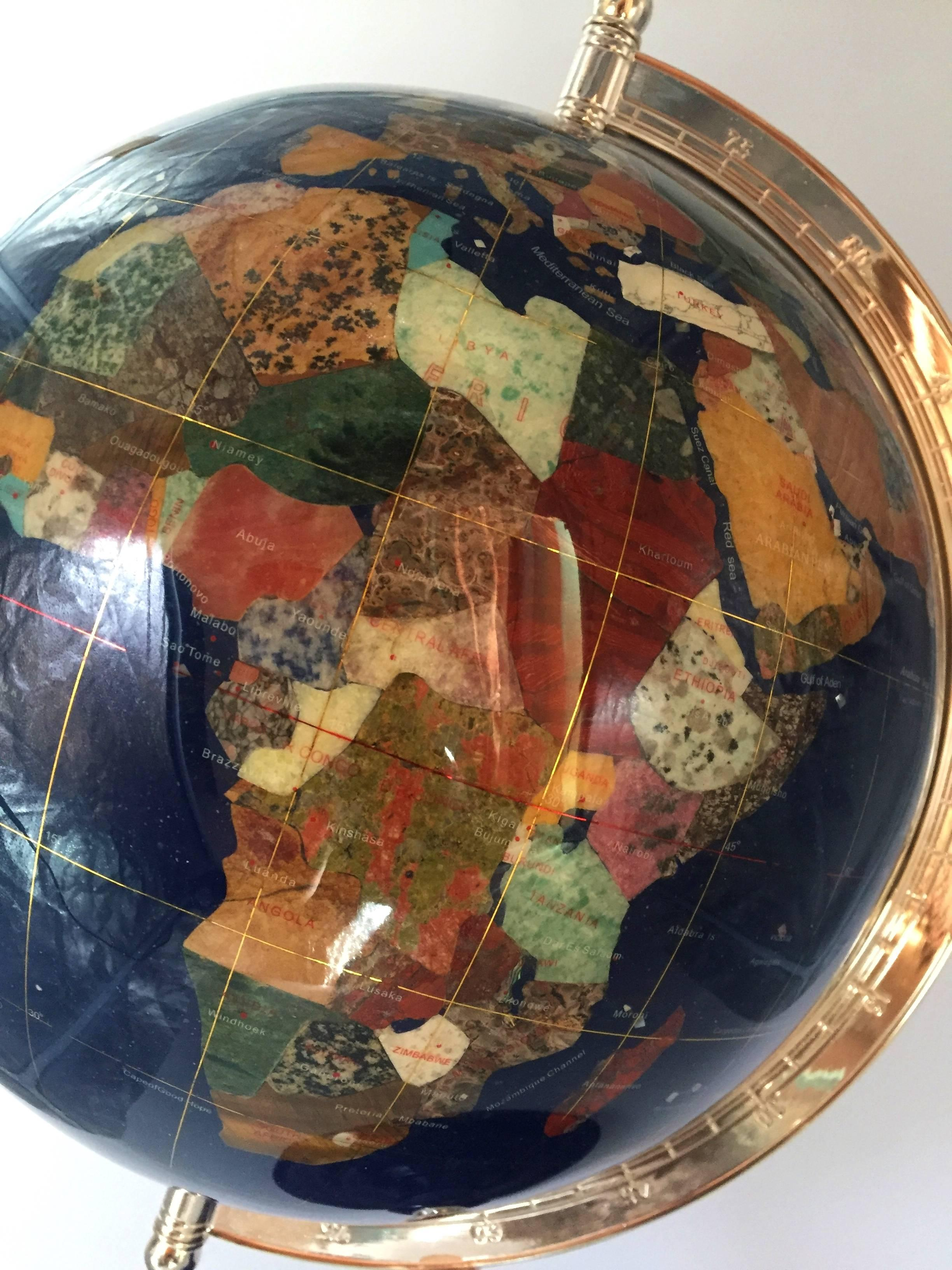 Gem Stone Globe For Sale At 1stdibs