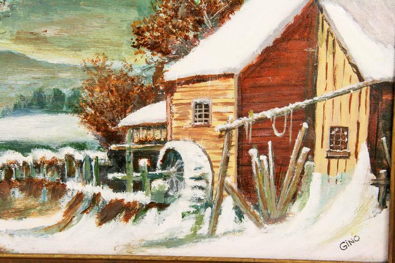 Grist Mill Painting For Sale At 1stdibs