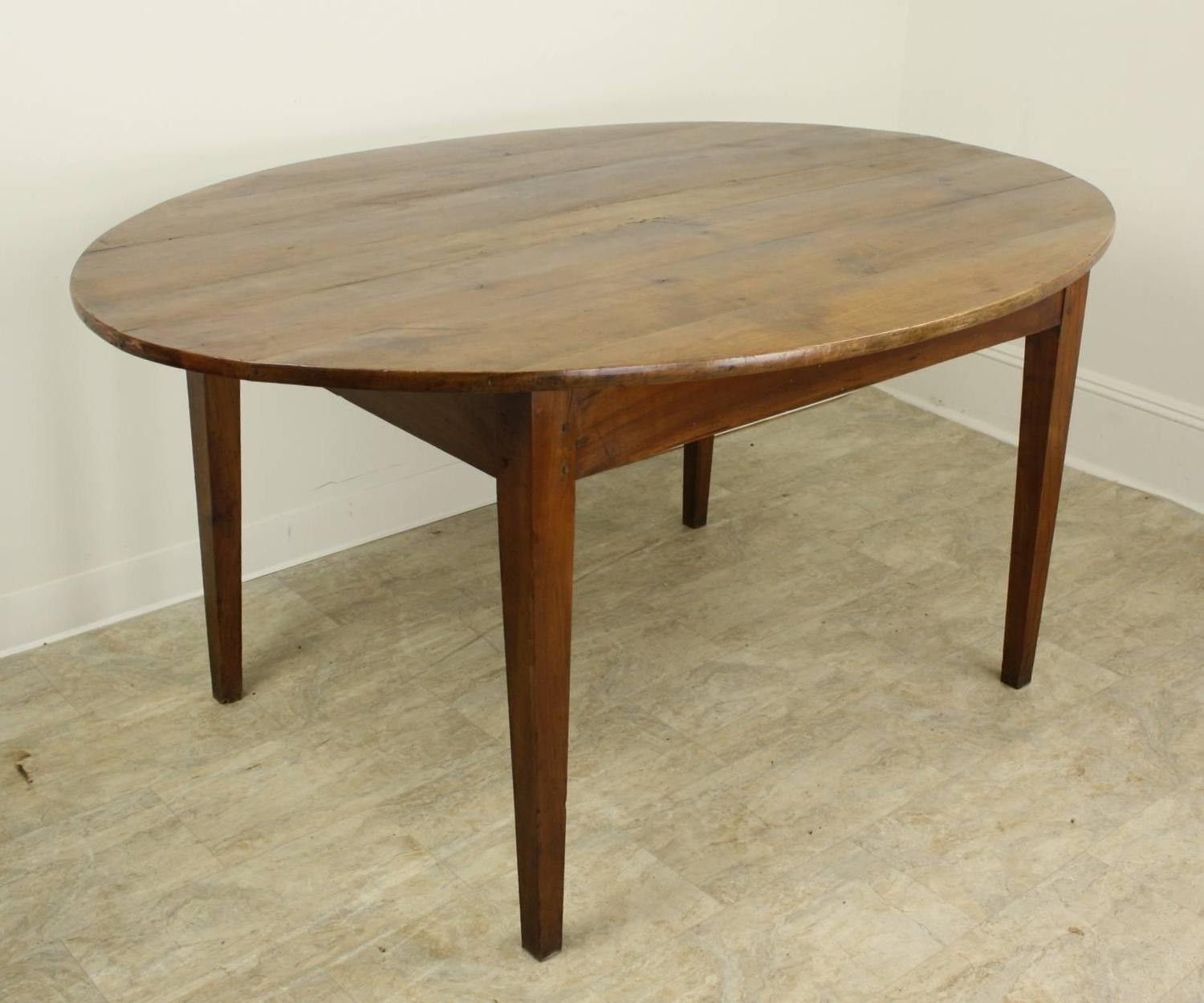 Antique French Oval Cherry Dining Table For Sale At 1stdibs