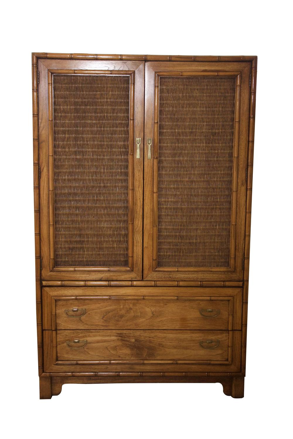 Faux Bamboo Armoire By Lane Furniture At 1stdibs