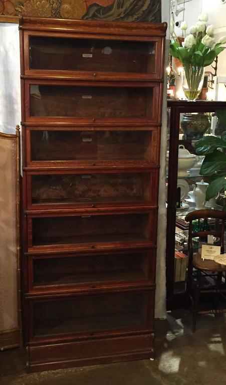 Globe Wernicke Large Stacking Lawyers Bookcase Of Oak At