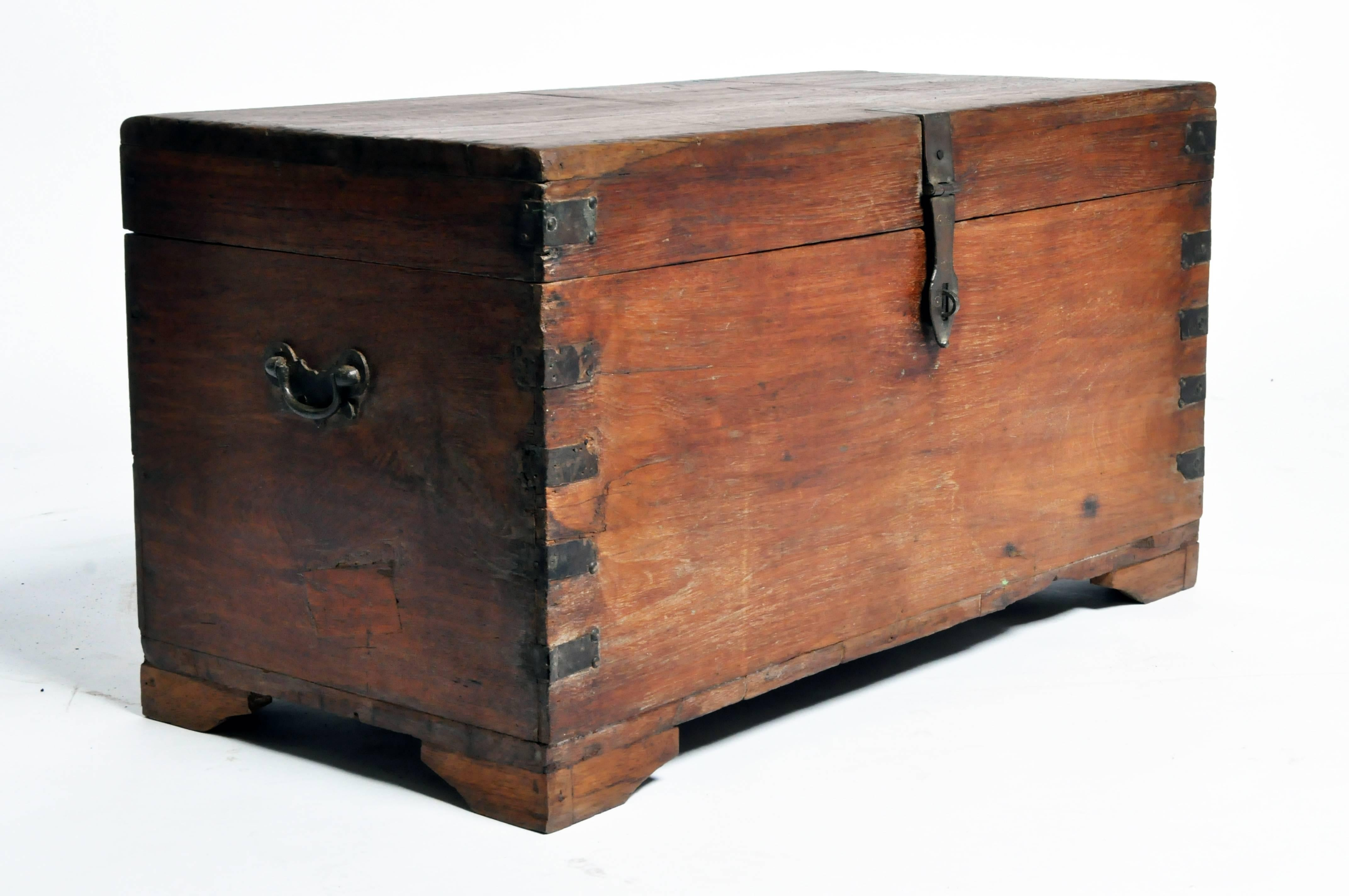 Wooden Storage Box With Metal Trim For Sale At 1stdibs