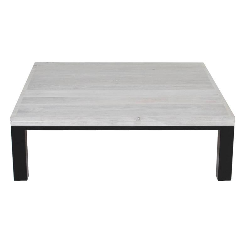 Custom Coffee Table With Bleached Walnut And Flat Black