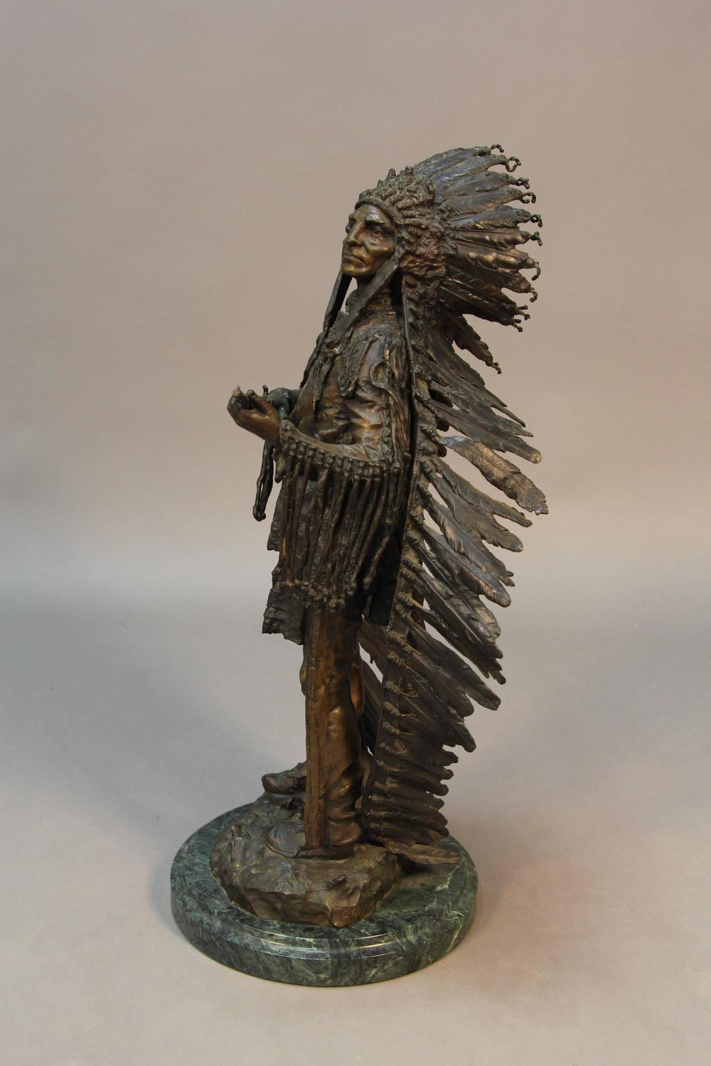 Indian Statue By Carl Kauba For Sale At 1stdibs