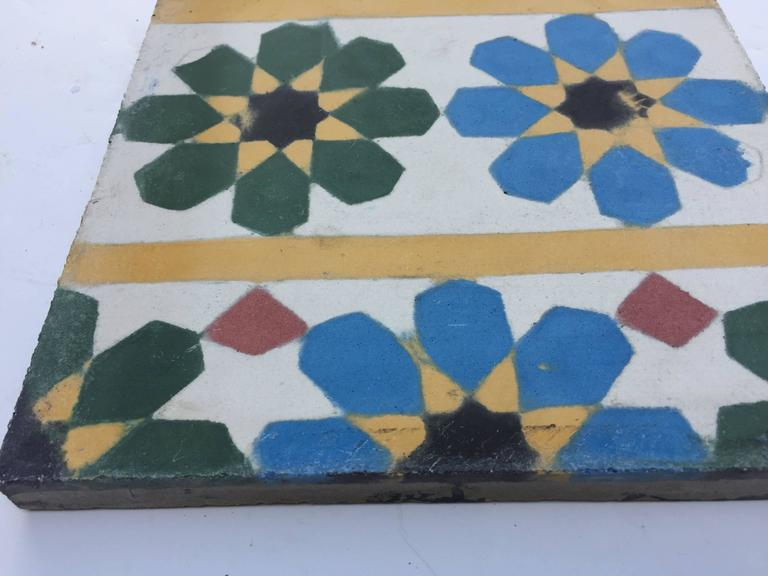 Encaustic Cement Border