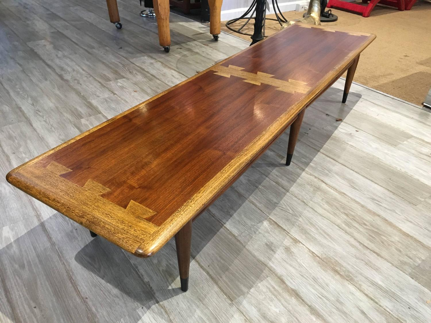 Extra Long Lane Dovetail Coffee Table For Sale At 1stdibs