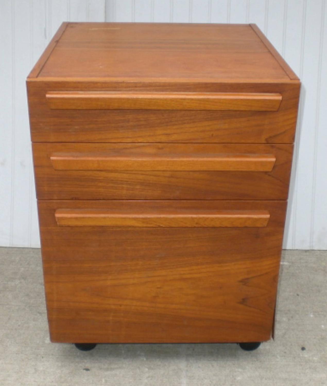 Teak File Cabinet On Wheels For Sale At 1stdibs
