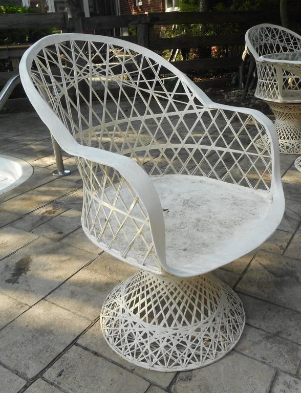 unique mid century modern russell woodard spun fiberglass patio set