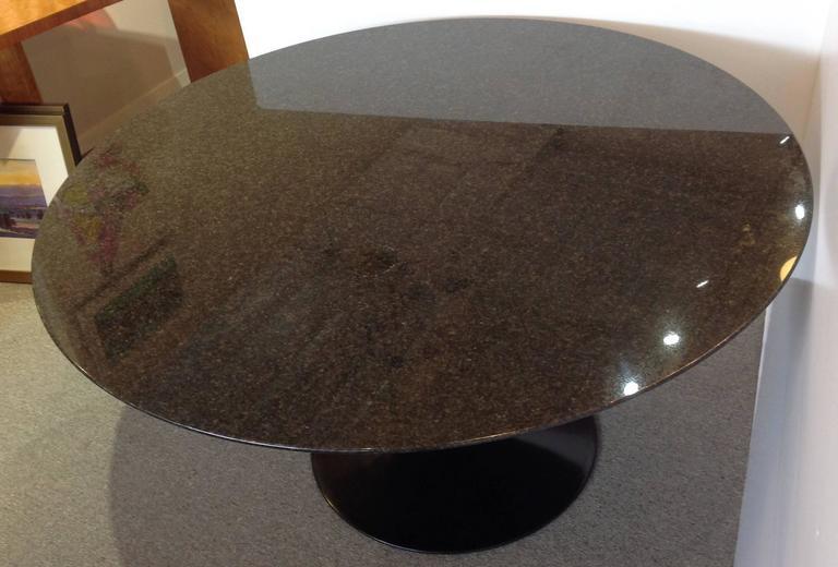 Saarinen Pedestal Granite Top Dining Table 54 Round For
