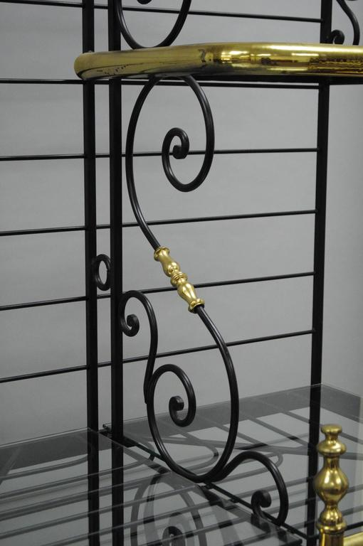 Large French Bakers Rack Wrought Iron And Brass Vintage By Perfit Fils Ltd Paris At 1stdibs
