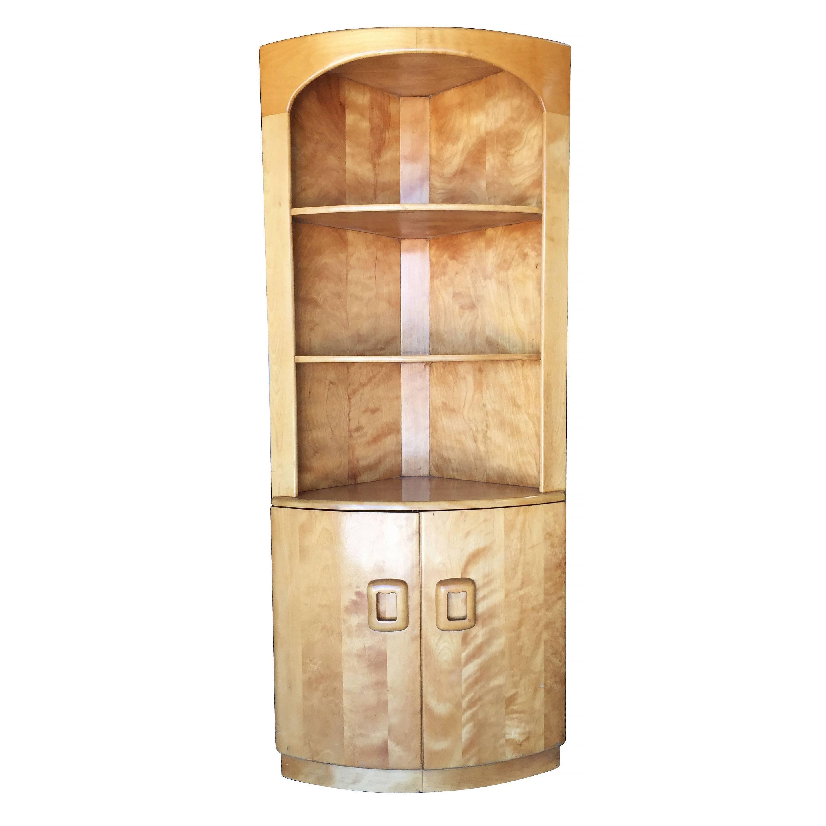 rare pair heywood wakefield corner cabinets at 1stdibs set of 2 heywood wakefield nightstands end tables mid century modern champagne