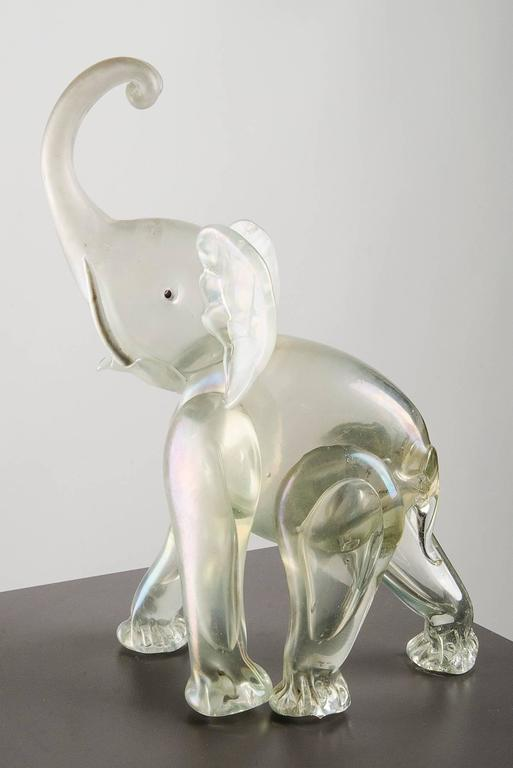 Murano Glass Elephant Sculpture Italy 1930s At 1stdibs