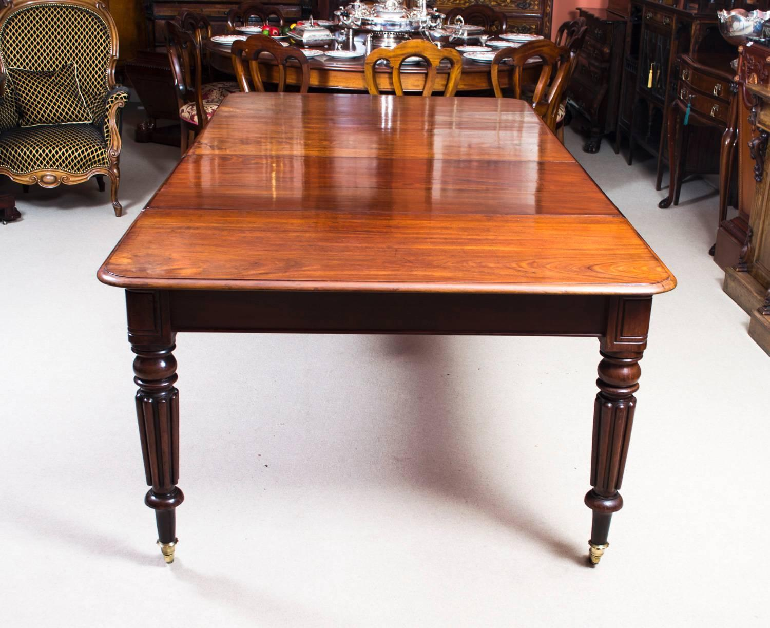 Antique Regency Mahogany Dining Table Eight Admiralty
