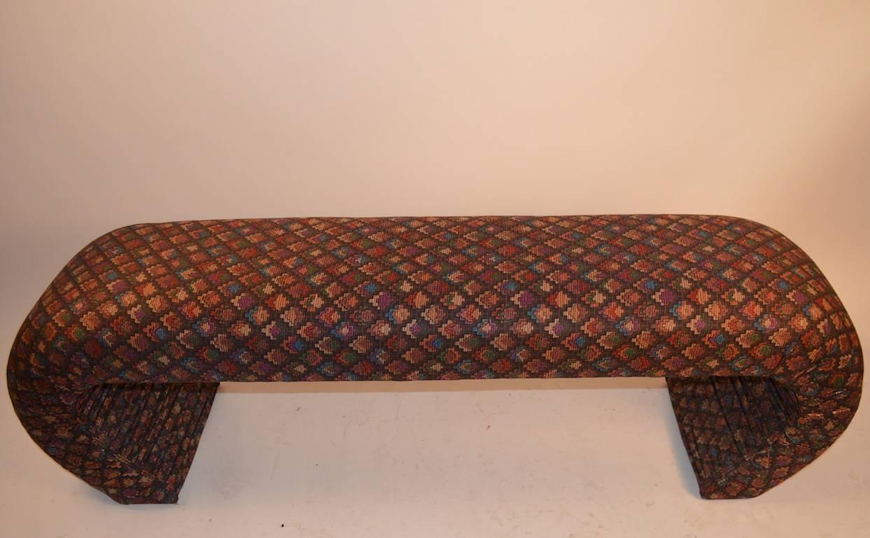 Upholstered Waterfall Bench At 1stdibs