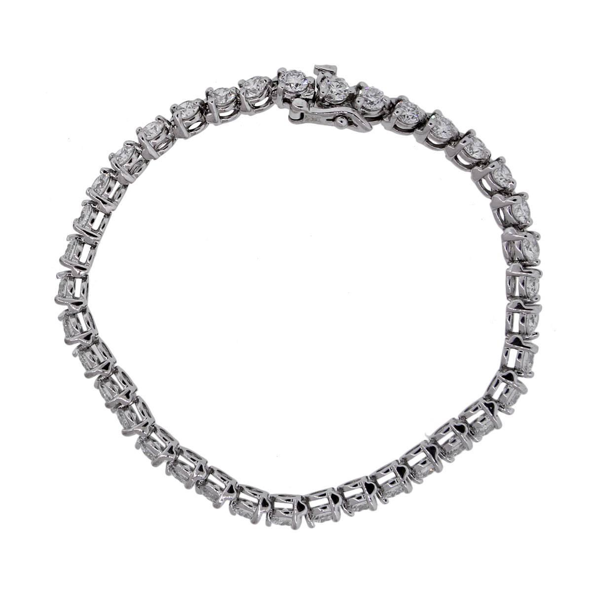 7 75 Carats Diamond Gold Tennis Bracelet For Sale At 1stdibs