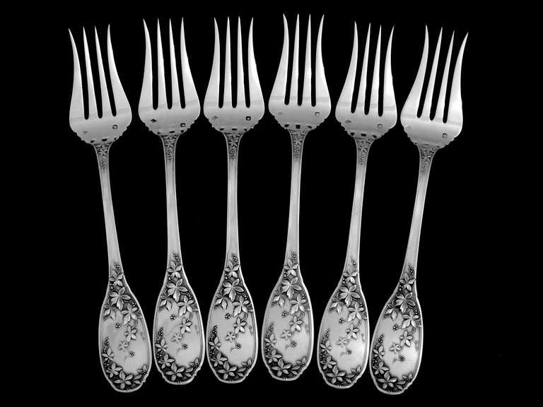 Flatware 4 Piece Sterling Barton Reed Francis And Silver Setting I