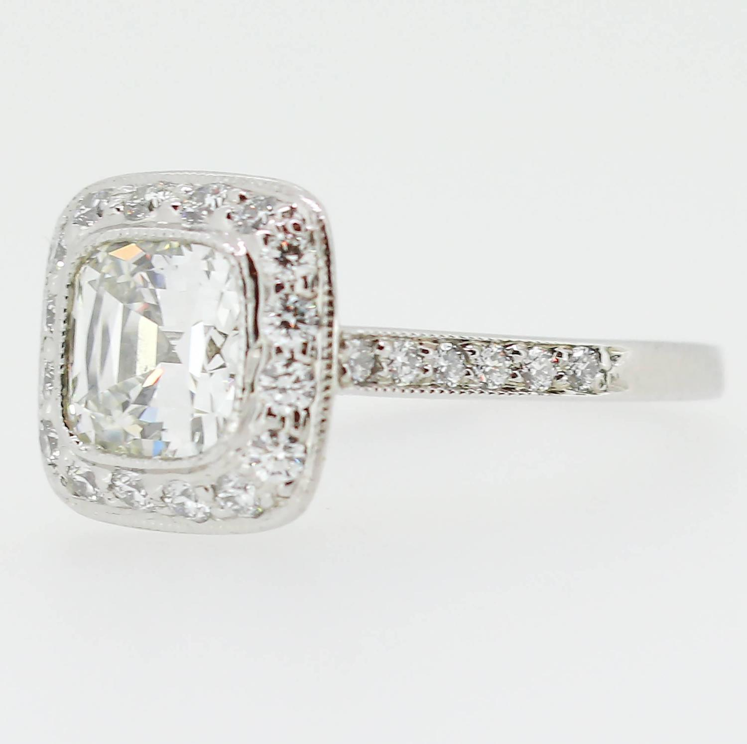 Tiffany And Co 1 62 Carat Legacy Cushion Cut Platinum