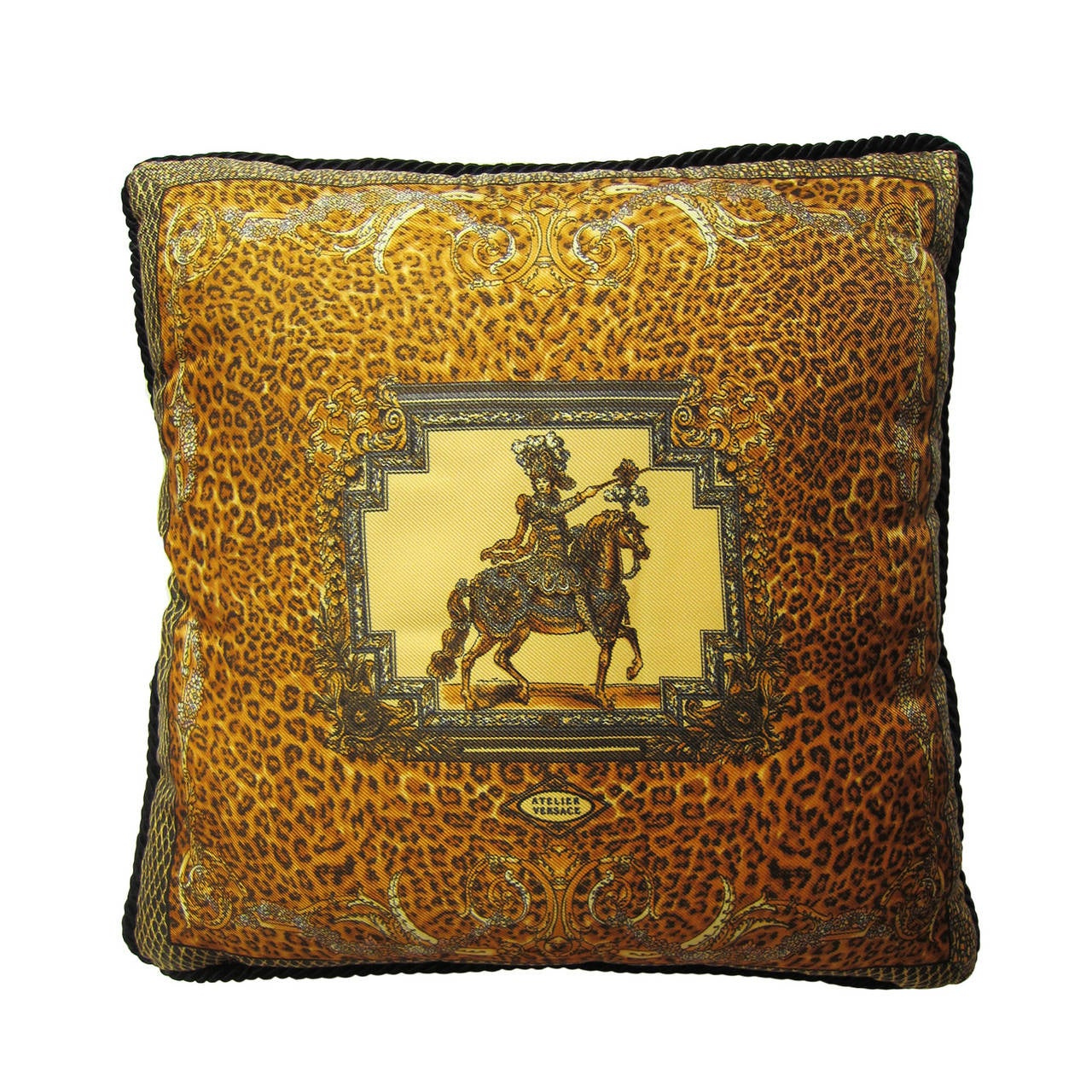 Atelier Versace Silk Pillow Leopard At 1stdibs