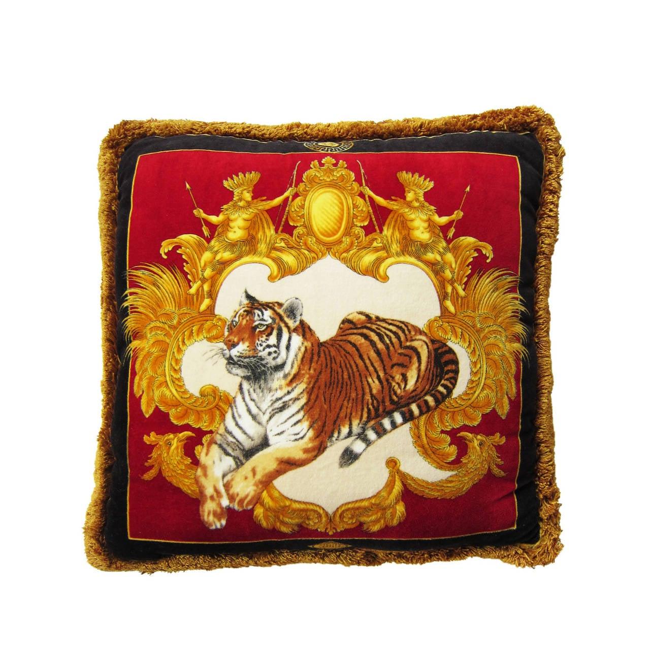 Atelier Versace Silk Vervet Pillow Medusa At 1stdibs