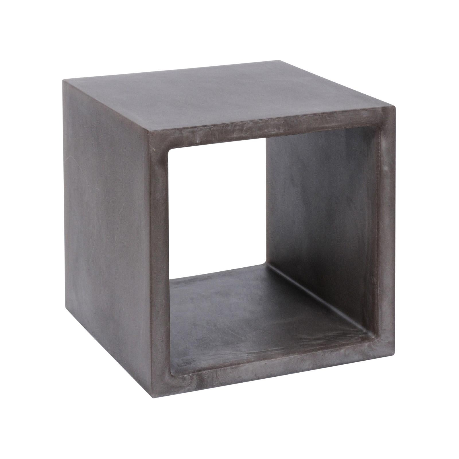 chief cube open resin side table or end table by martha sturdy
