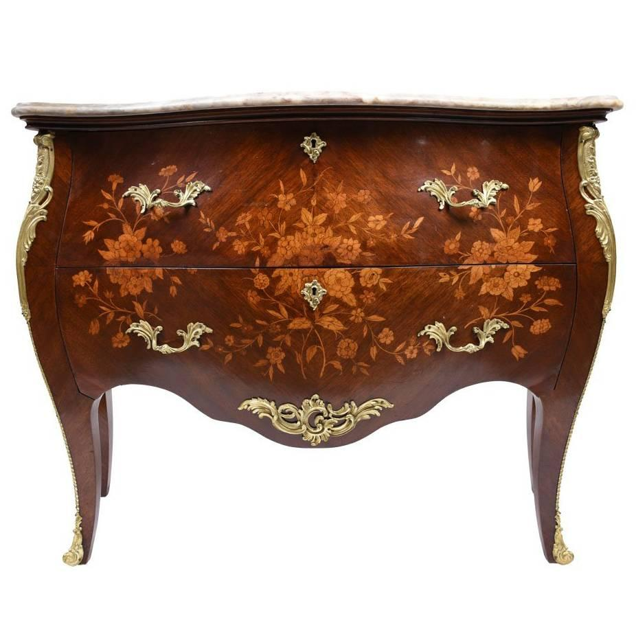 Antique French Louis XV Rosewood Commode For Sale at 1stdibs French Louis XV Inlaid Commode