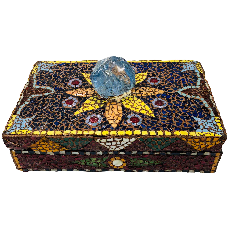 french pique assiette mosaic box for sale