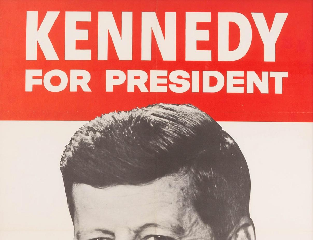 kennedy for president original presidential campaign poster 1960