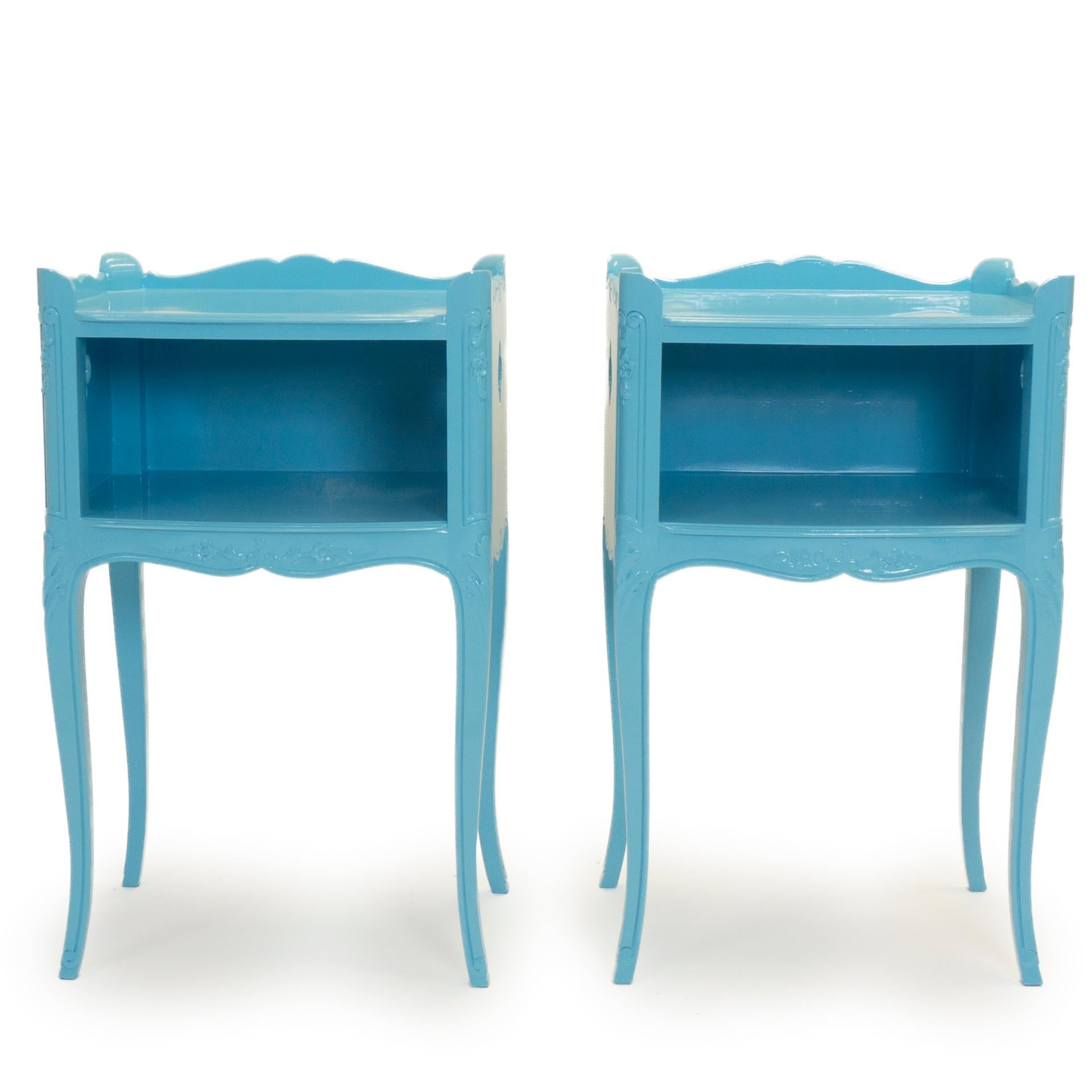 Lacquered Vintage French Side Tables
