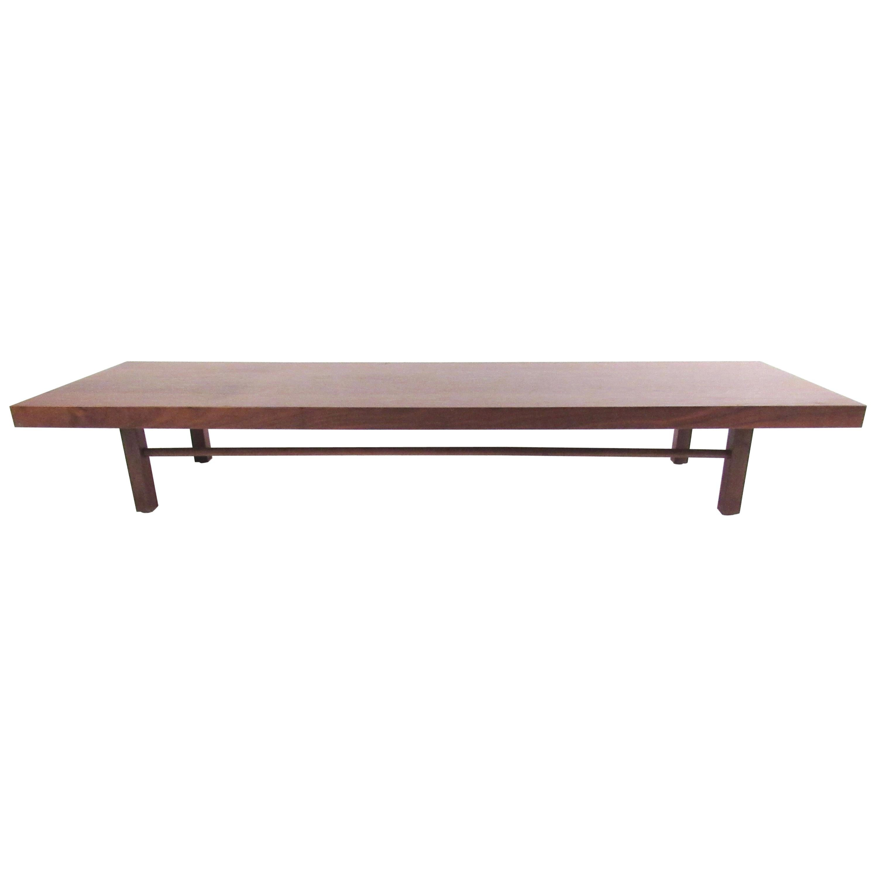 long low coffee table by milo baughman for thayer coggin