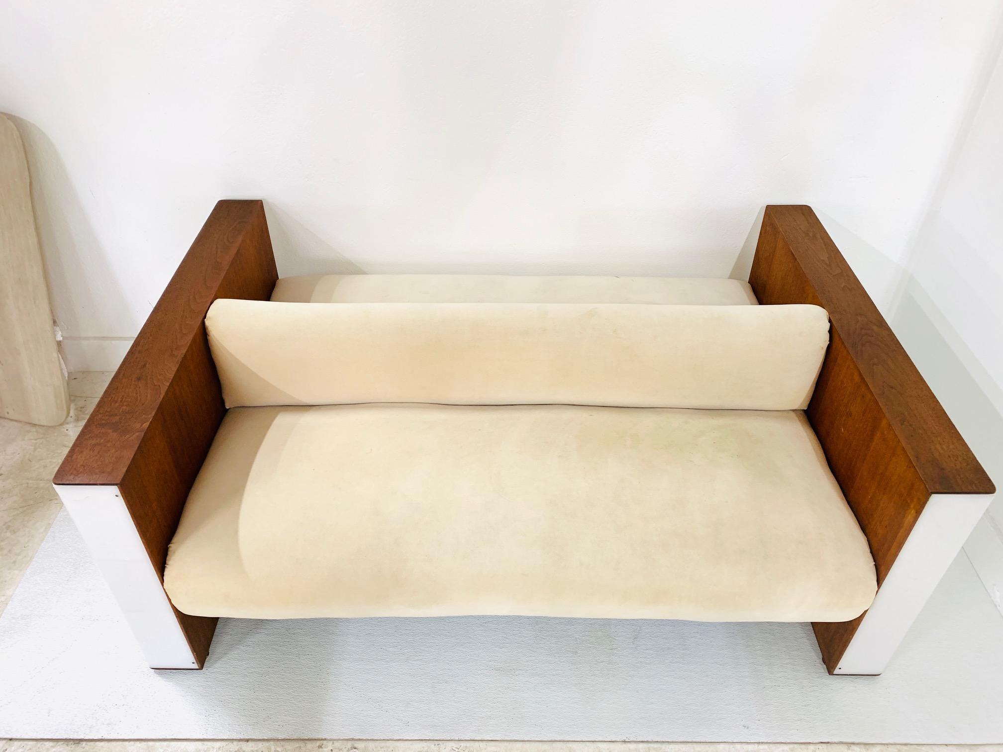 vladimir kagan illuminated double sided sofa