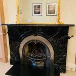 Scottish 19th Century Victorian Arched Black Marble Fireplace Surround At 1stdibs