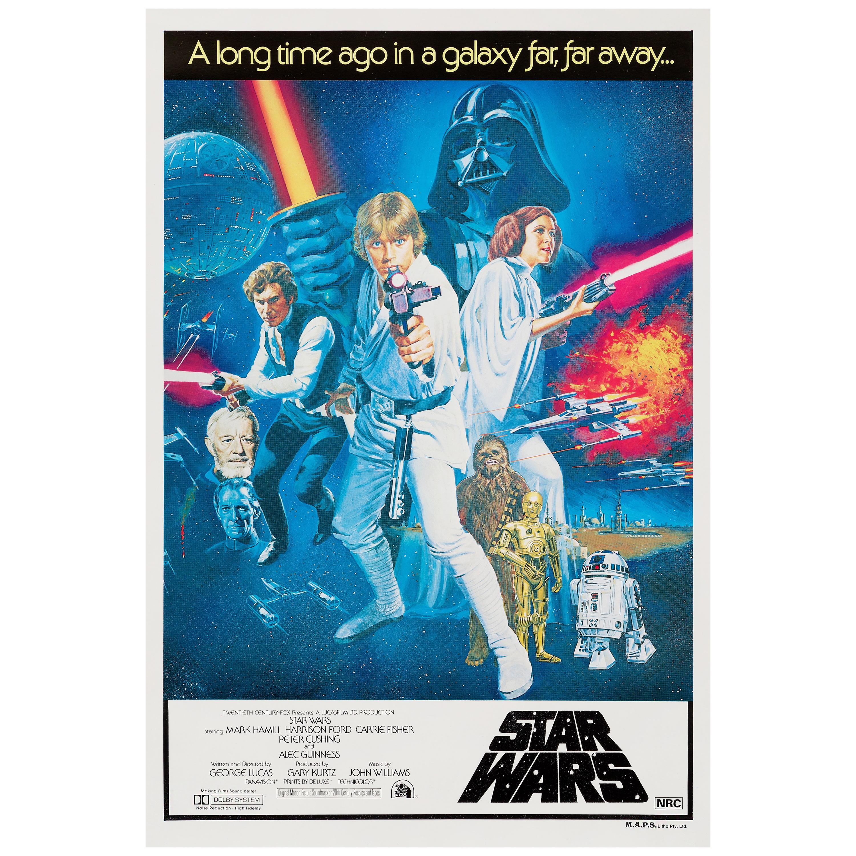 star wars original vintage australian one sheet movie poster 1977