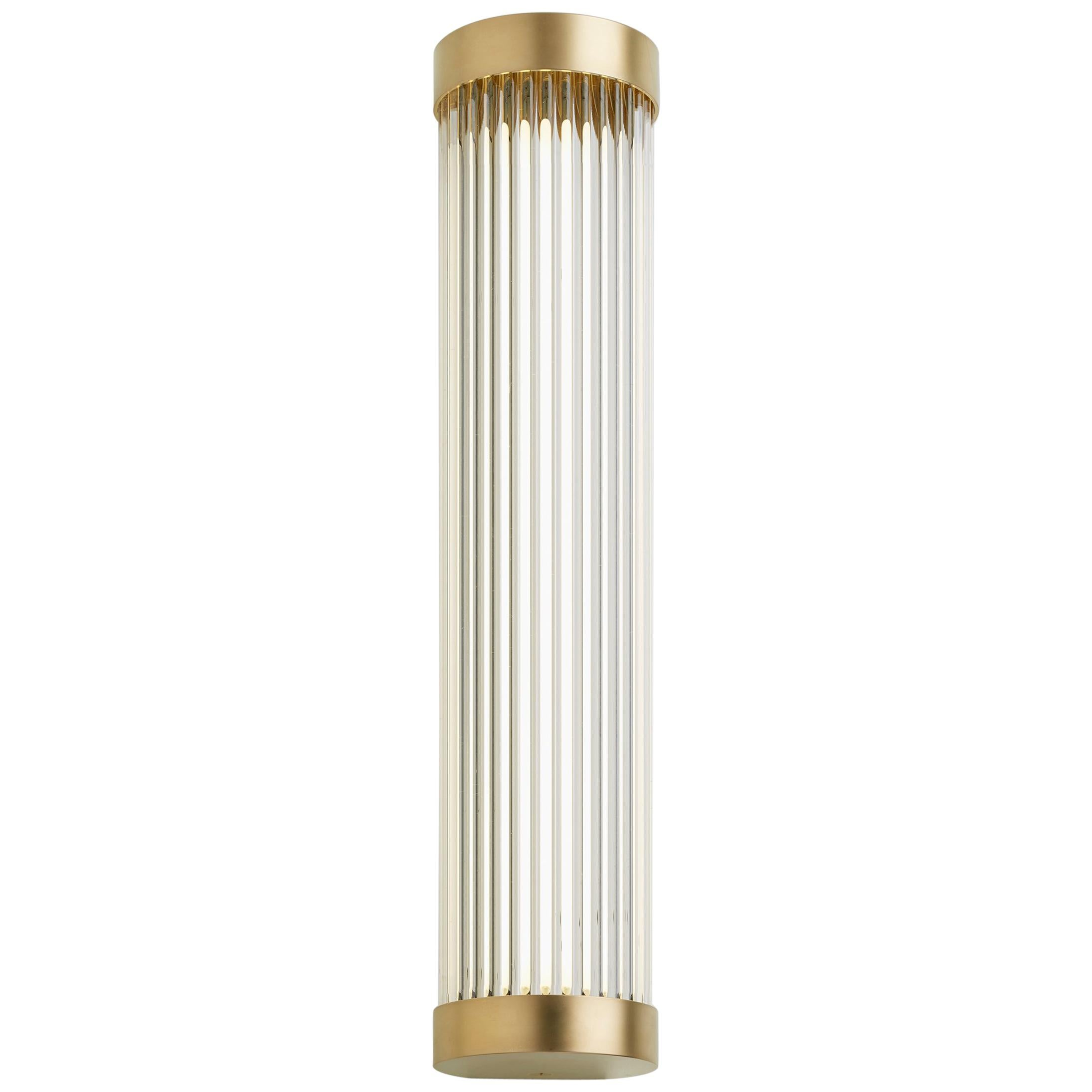 tekna mercer long wall light with gold plated brass finish