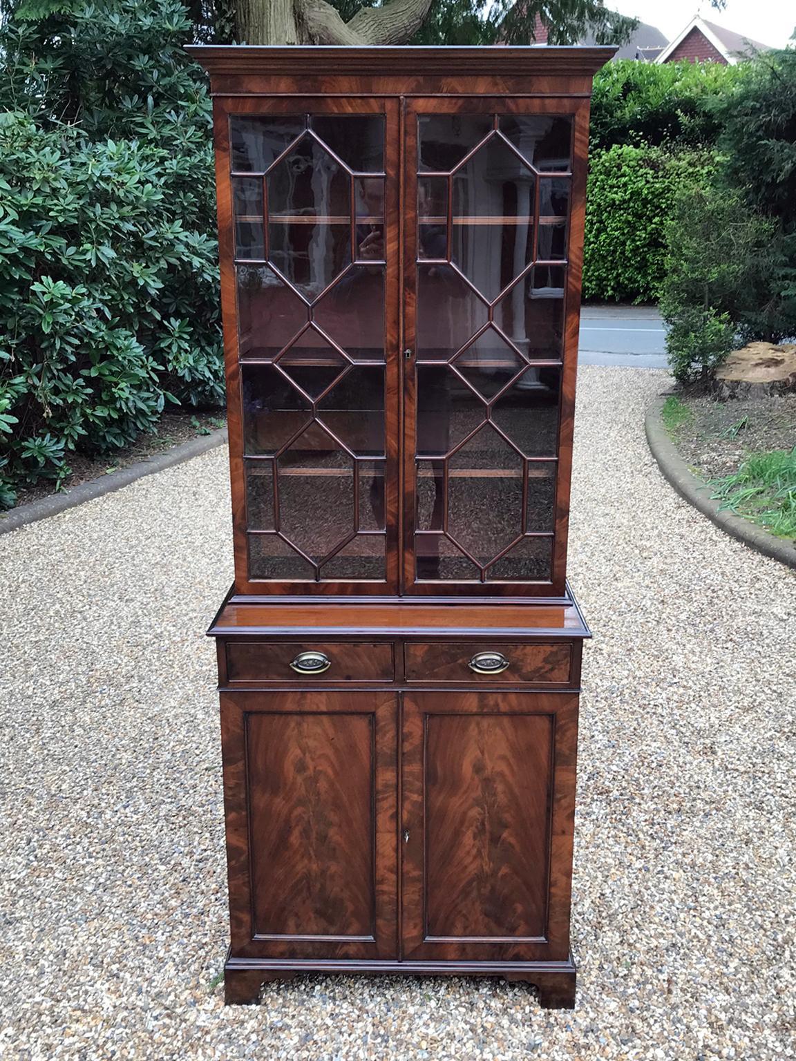Victorian Mahogany Bookcase Cupboard