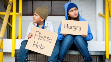 Give money for hungry kids — Steemit