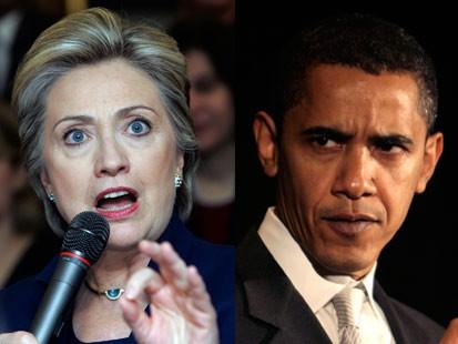 Clinton, Obama