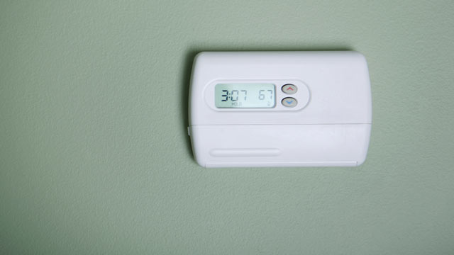 PHOTO:An air conditioner thermostat unit.