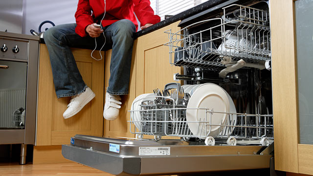 PHOTO:Dishwasher unit in a home.