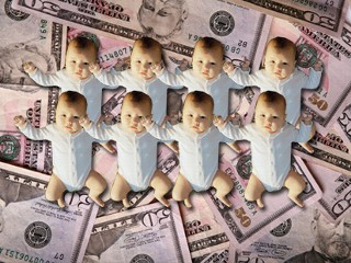 What's the cost of raising eight babies?