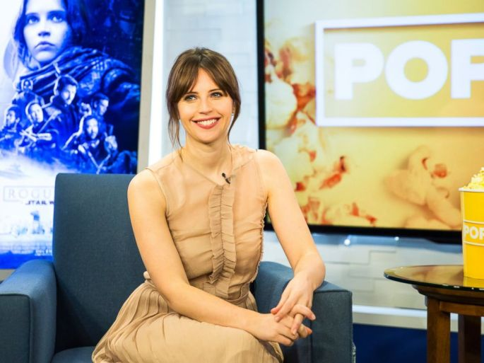 PHOTO: Felicity Jones appears here on Popcorn With Peter Travers.