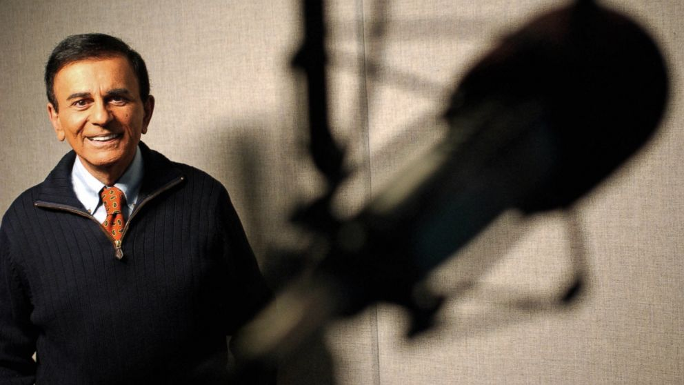 PHOTO: Top 40 radio host Casey Kasem poses at a radio station in Los Angeles, Calif. in 2003.