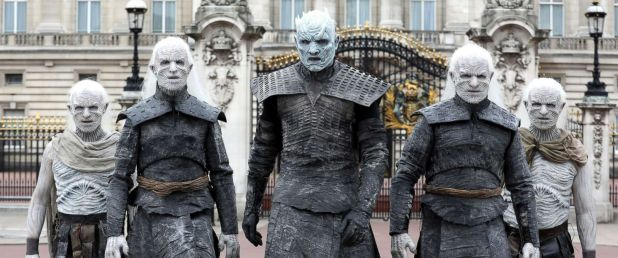 White Walkers see on London's Street Live During Game of Thrones