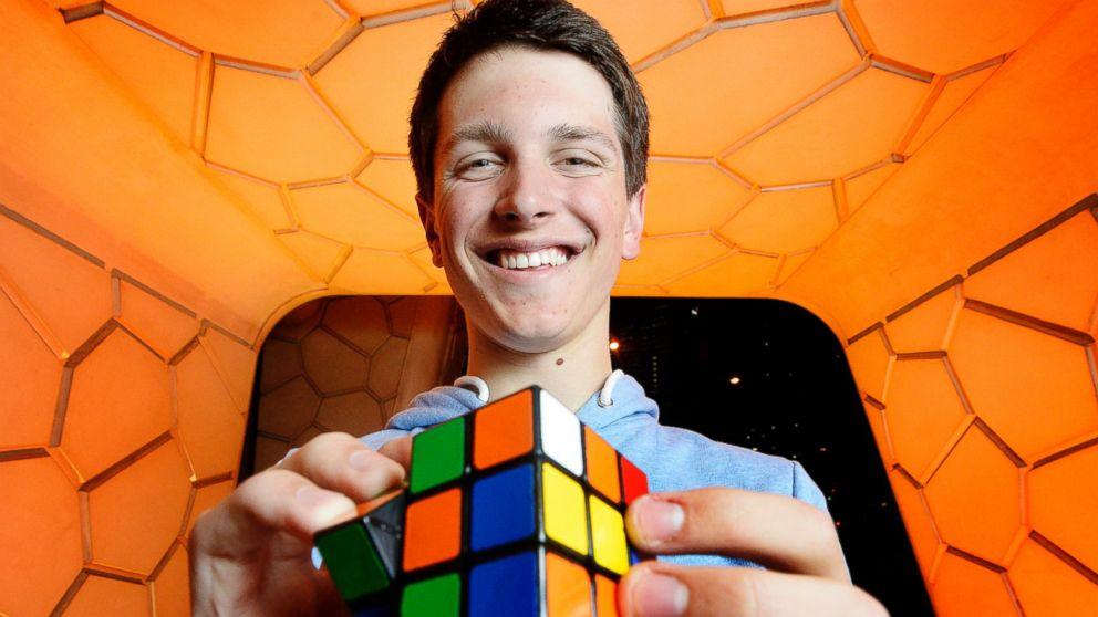 PHOTO: Rubiks Cube world champion Feliks Zemdegs poses for a photo on July 31, 2013 in Melbourne, Australia.