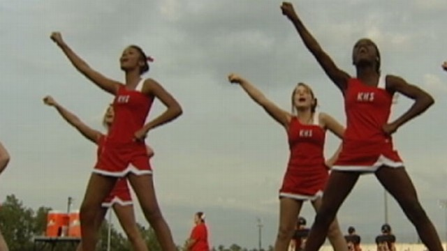 VIDEO: God Squad cheerleaders square off against the public school on religious expression.