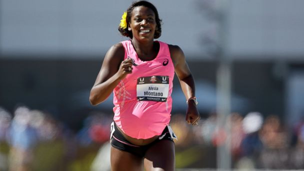 GTY alysia montano jef 140627 16x9 608 Runner, 8.5 Months Pregnant, Completes 800 Meter Race