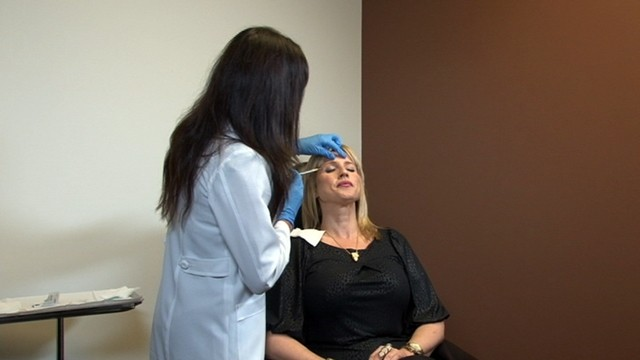 PHOTO: Tina Franklin receives Botox injections at the office of Dr. Tenley Lawton, a plastic surgeon in Newport Beach, Calif.