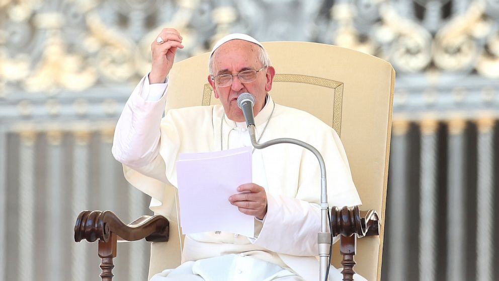 Pope Francis attends his weekly audience in St. Peter's square,  June 19, 2013, in Vatican City, Vatican.